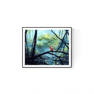 """""""Monkey in the Forest"""" Paper and Canvas Prints"""