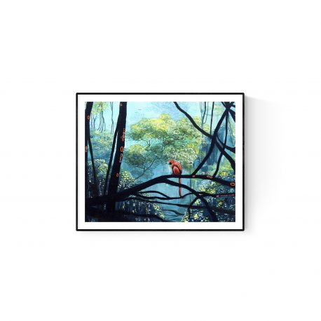 Monkey in Forest paper print