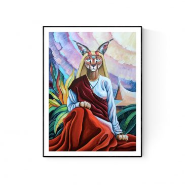 """""""Lady Rooikat"""" Paper and Canvas Prints"""